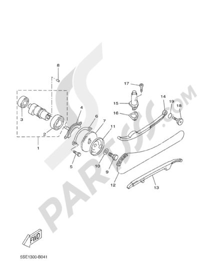 Yamaha X-City 250 2010 CAMSHAFT & CHAIN