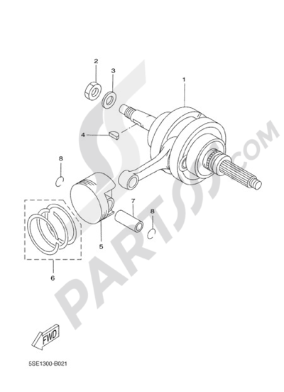 Yamaha X-City 250 2009 CRANKSHAFT & PISTON