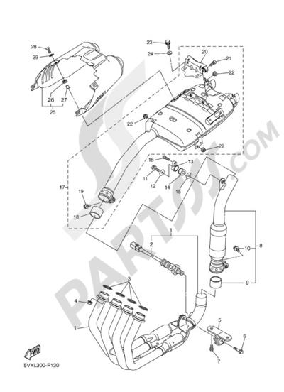 Yamaha FZ6 Fazer ABS 2007 EXHAUST