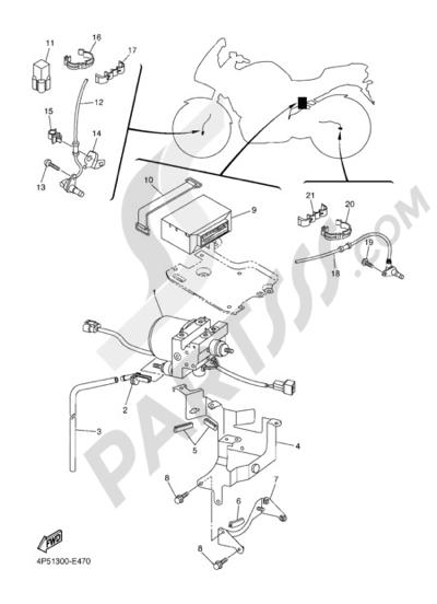 Yamaha FZ6 Fazer ABS 2007 ELECTRIC EQUIPMENT 3