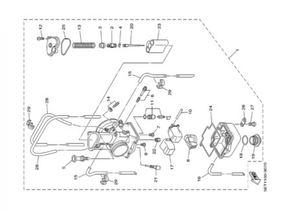 CARBURETOR Yamaha YZ125 2000