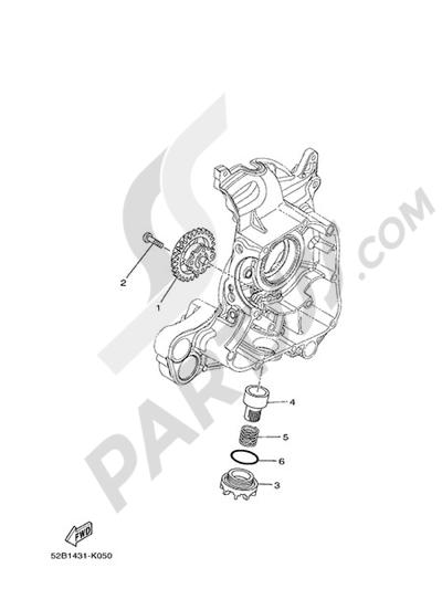 Yamaha D'elight 125 2014 OIL PUMP