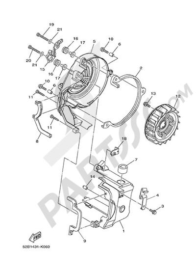 Yamaha D'elight 125 2014 AIR & FAN COVER