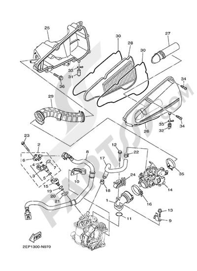 Yamaha D'elight 125 2014 INTAKE