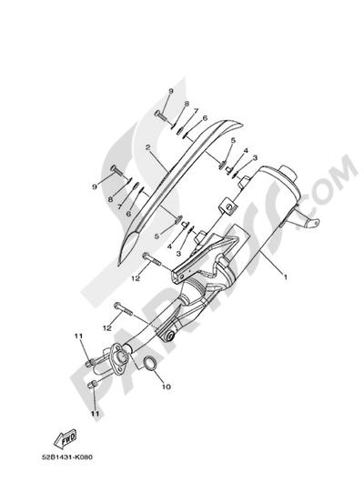 Yamaha D'elight 125 2014 EXHAUST