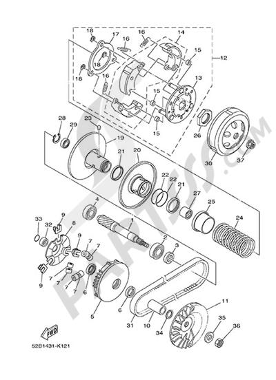 Yamaha D'elight 125 2014 CLUTCH