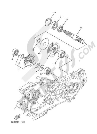 Yamaha D'elight 125 2014 TRANSMISSION