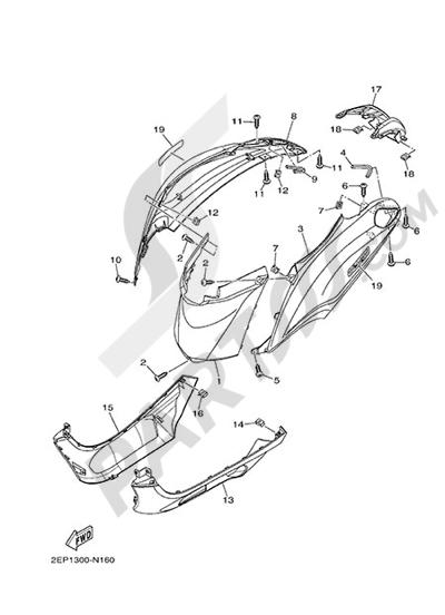 Yamaha D'elight 125 2014 SIDE FAIRING / COWLING