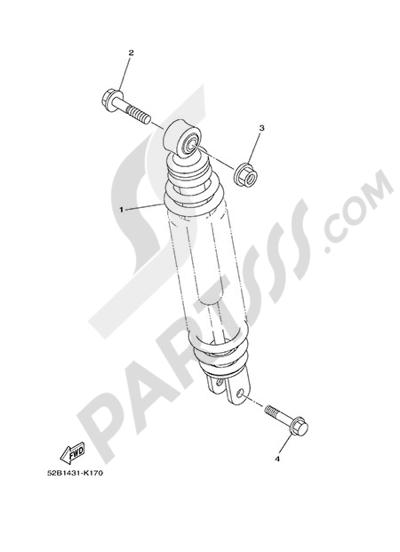 Yamaha D'elight 125 2014 REAR ARM & SUSPENSION