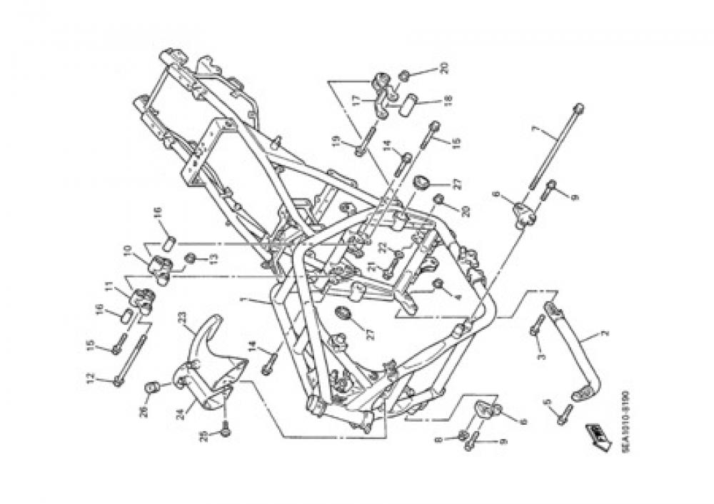 FRAME Yamaha XJR 1300 2000