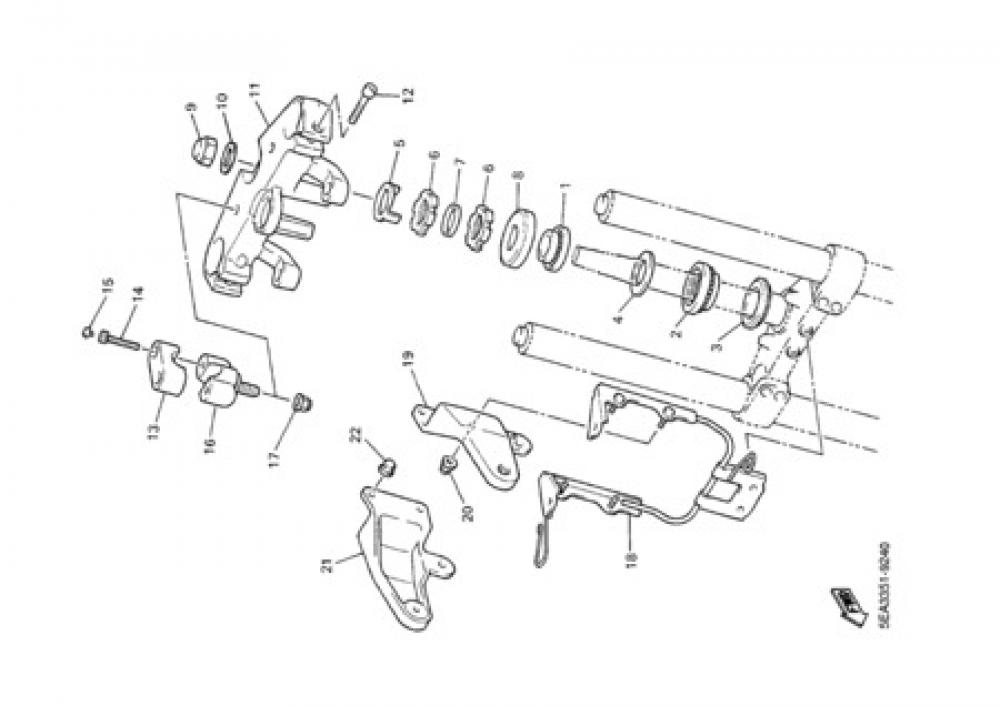 STEERING Yamaha XJR 1300 2000