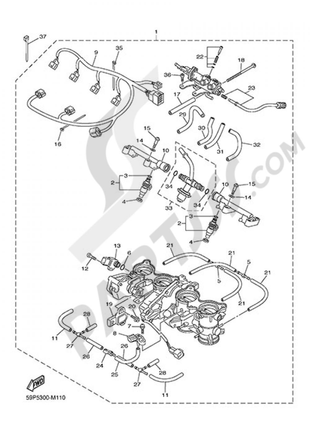 INTAKE 2 Yamaha Fazer8 ABS 2014