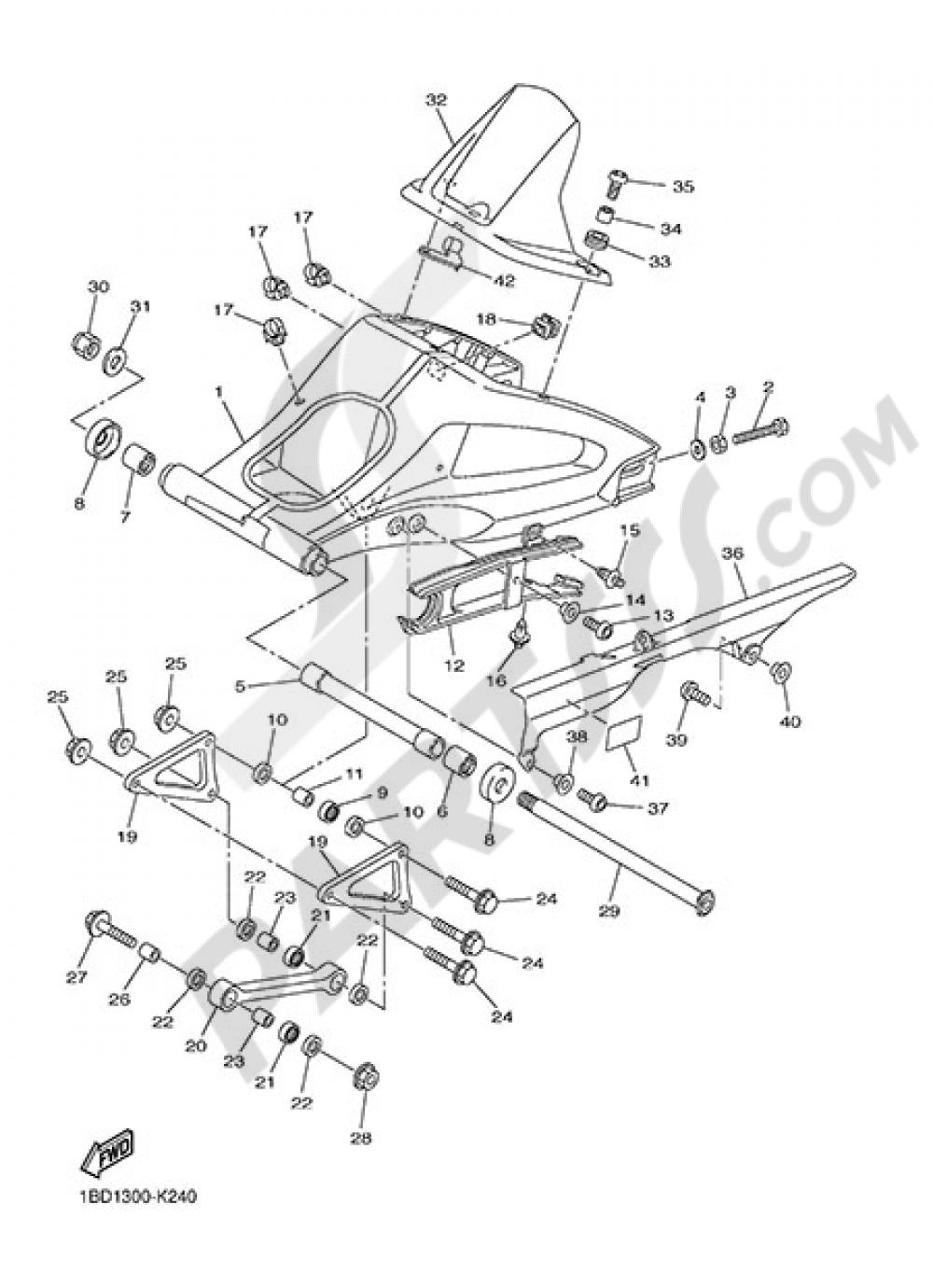 REAR ARM Yamaha Fazer8 ABS 2015