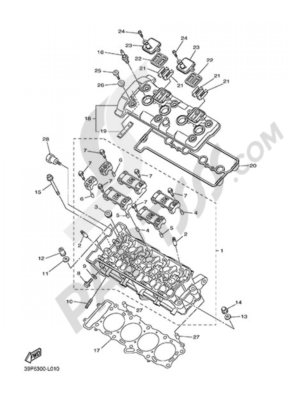 CYLINDER HEAD Yamaha Fazer8 ABS 2015