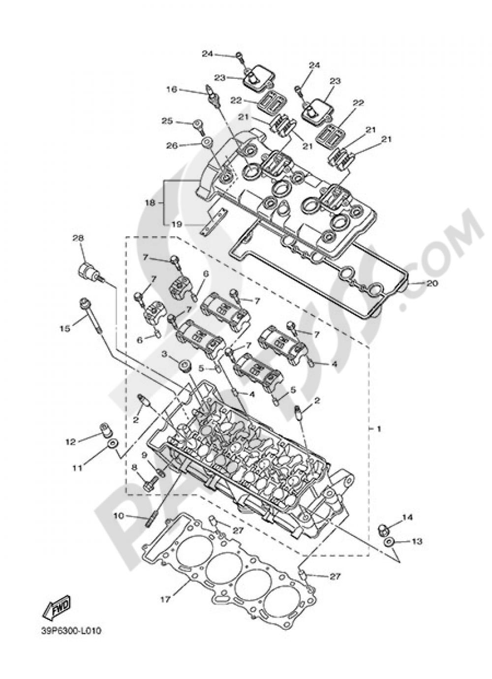 CYLINDER HEAD Yamaha FZ8 2013