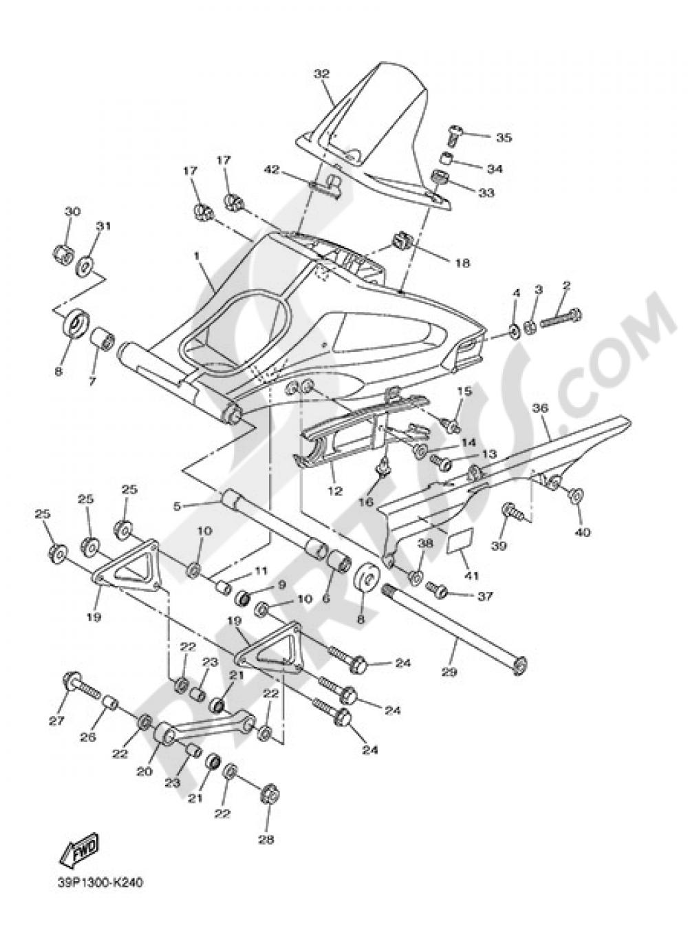 REAR ARM Yamaha FZ8 2015