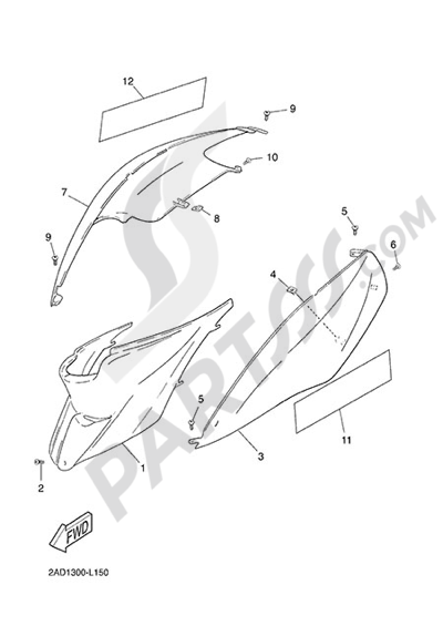 Yamaha Jog R 2015 SIDE FAIRING / COWLING