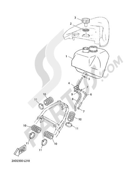Yamaha Jog R 2015 FUEL TANK