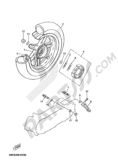 Yamaha Jog R 2015 REAR WHEEL