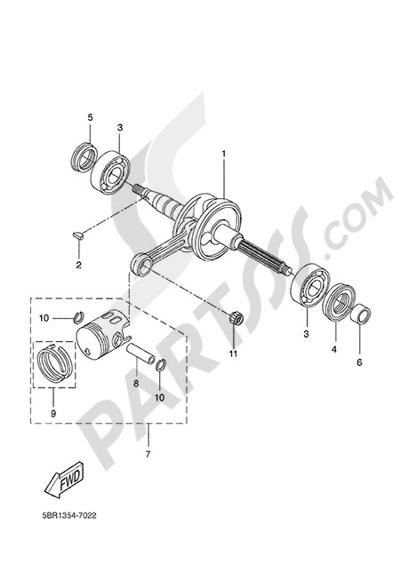 Yamaha Jog R 2015 CRANKSHAFT & PISTON