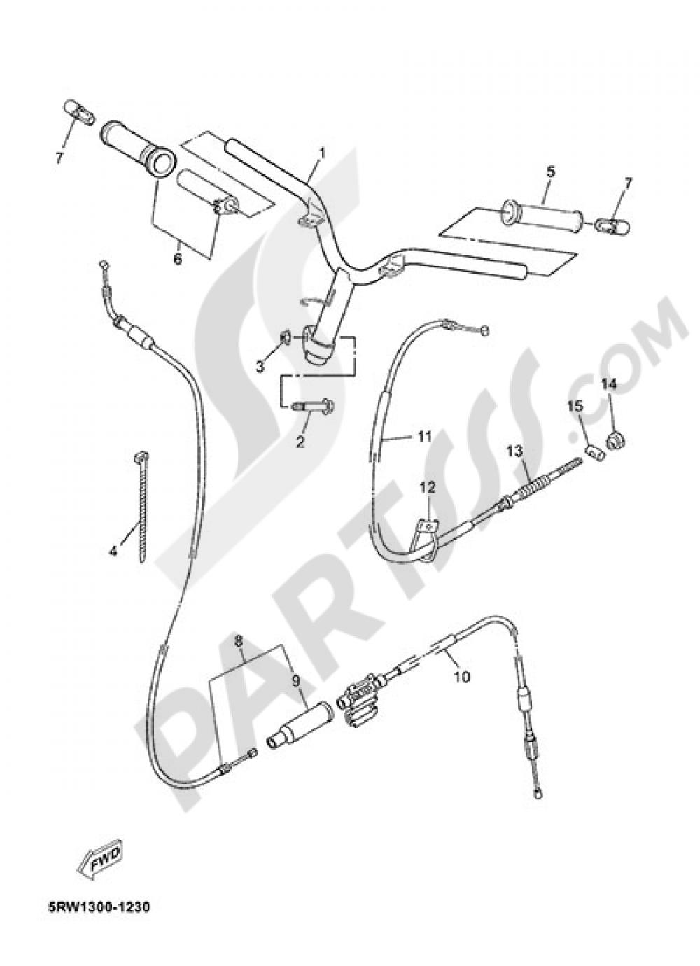 HANDELBAR AND CABLES Yamaha Jog RR 2015