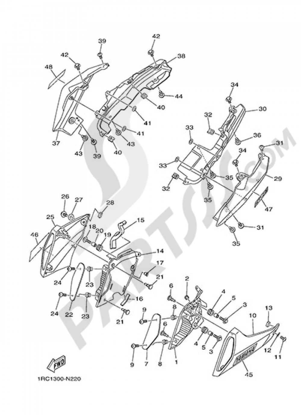 SIDE FAIRING / COWLING Yamaha MT-09 2014