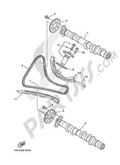 Yamaha MT-09 Tracer 2015 CAMSHAFT &CHAIN