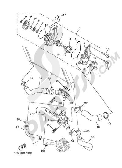 Yamaha MT-09 Tracer 2015 WATER PUMP
