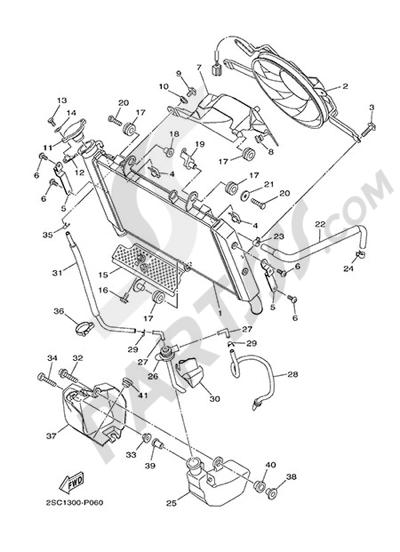 Yamaha MT-09 Tracer 2015 RADIATOR AND HOSE