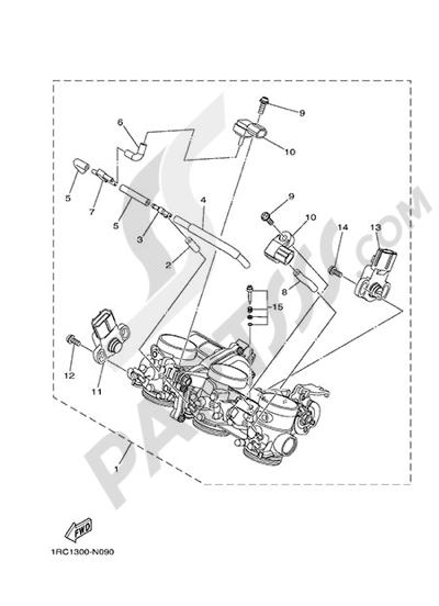 Yamaha MT-09 Tracer 2015 INTAKE