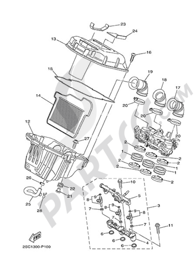Yamaha MT-09 Tracer 2015 INTAKE 2