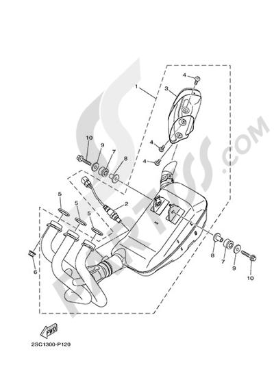 Yamaha MT-09 Tracer 2015 EXHAUST