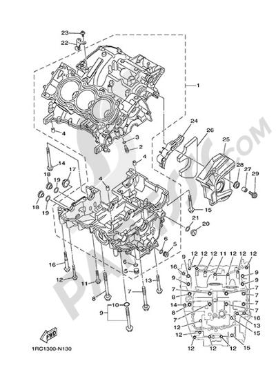 Yamaha MT-09 Tracer 2015 CRANKCASE