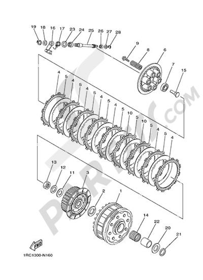 Yamaha MT-09 Tracer 2015 CLUTCH