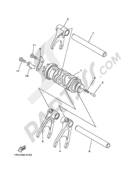 Yamaha MT-09 Tracer 2015 SHIFT CAM & FORK