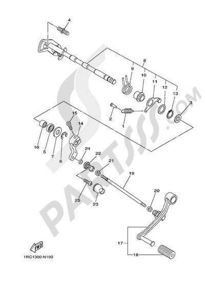 Yamaha MT-09 Tracer 2015 SHIFT SHAFT