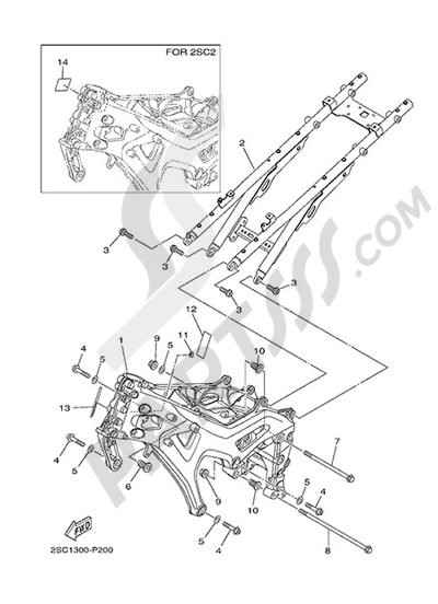 Yamaha MT-09 Tracer 2015 FRAME