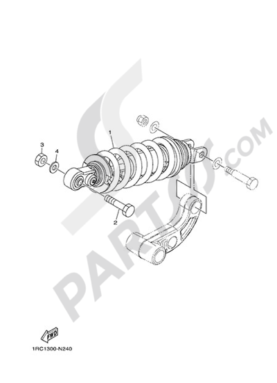 Yamaha MT-09 Tracer 2015 REAR SUSPENSION