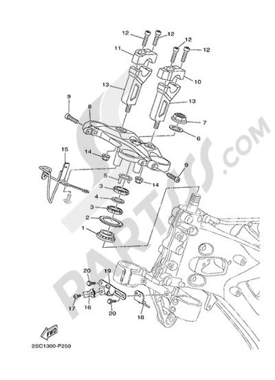 Yamaha MT-09 Tracer 2015 STEERING
