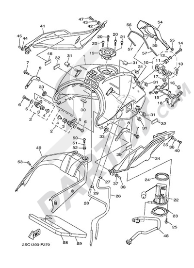 Yamaha MT-09 Tracer 2015 FUEL TANK
