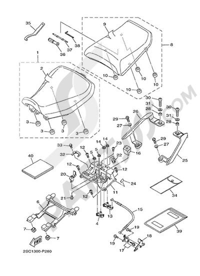 Yamaha MT-09 Tracer 2015 SEAT