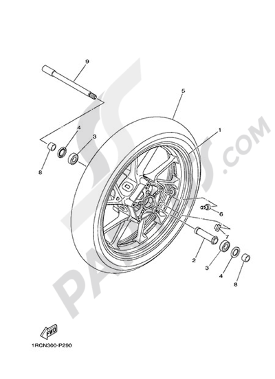 Yamaha MT-09 Tracer 2015 FRONT WHEEL