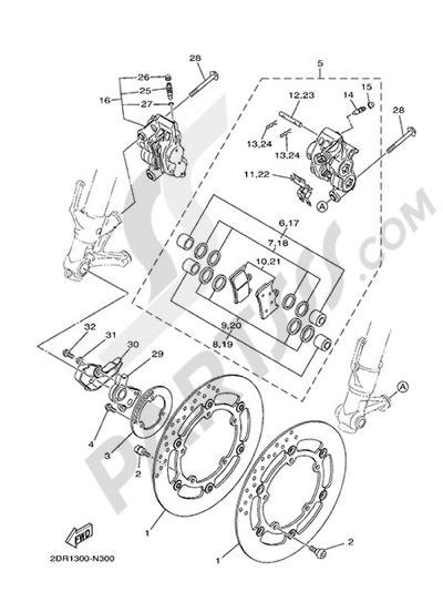 Yamaha MT-09 Tracer 2015 FRONT BRAKE CALIPER