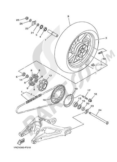 Yamaha MT-09 Tracer 2015 REAR WHEEL