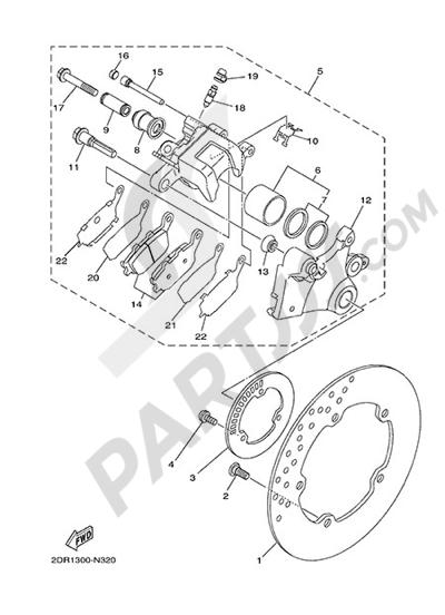 Yamaha MT-09 Tracer 2015 REAR BRAKE CALIPER