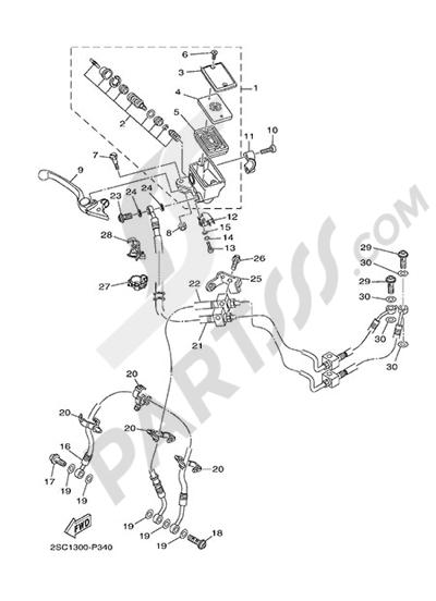 Yamaha MT-09 Tracer 2015 FRONT MASTER CYLINDER