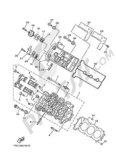 Yamaha MT-09 Tracer 2015 CYLINDER HEAD