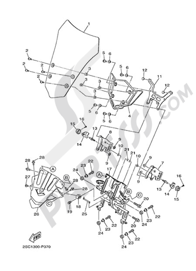 Yamaha MT-09 Tracer 2015 WINDSHIELD