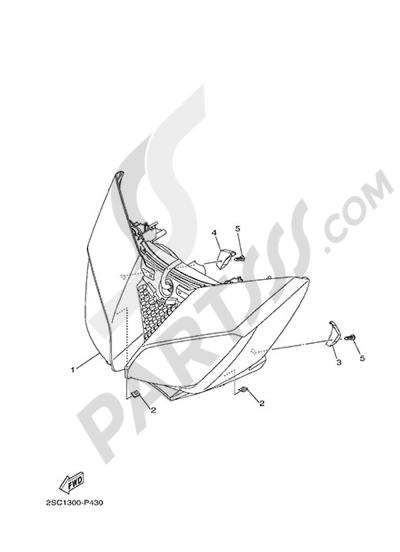 Yamaha MT-09 Tracer 2015 HEADLIGHT
