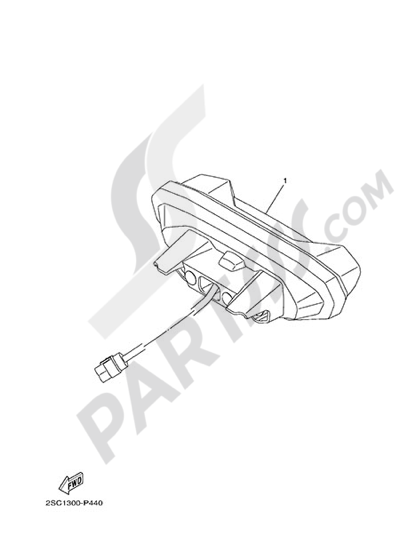 Yamaha MT-09 Tracer 2015 TAILLIGHT